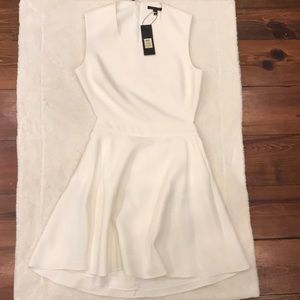 NWT Rachel Zoe soft white cut out dress